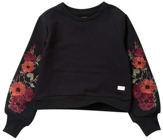 7 For All Mankind Embroidered Popover Sweatshirt (Big Girls)