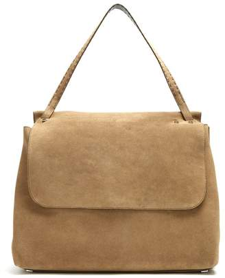 The Row Top Handle 14 suede shoulder bag