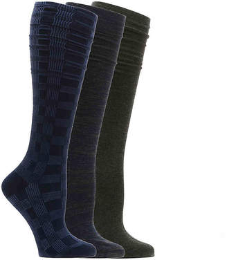 Nine West Plaid Knee Socks - 3 Pack - Women's