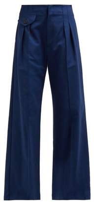 Sea Lennox High Rise Wide Leg Trousers - Womens - Blue