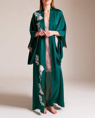 Carine Gilson Roses Paradise Long Kimono