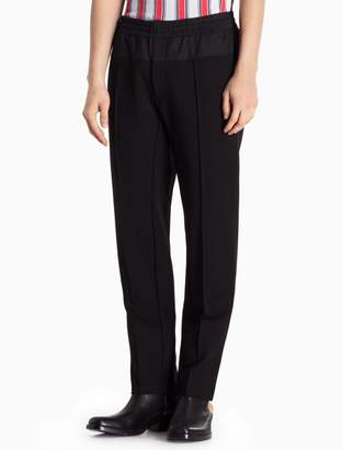 Calvin Klein mixed media rayon stretch pants
