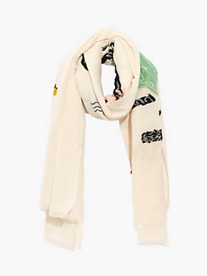 Madewell NYC Map Square Scarf, Vintage Linen/Multi