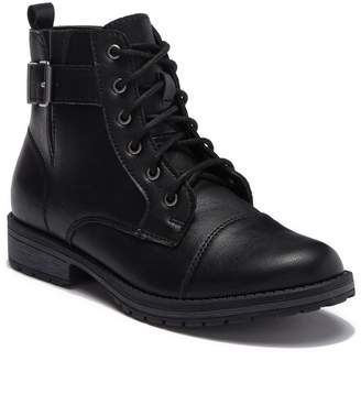 Madden-Girl Micaah Short Faux Leather Combat Boot
