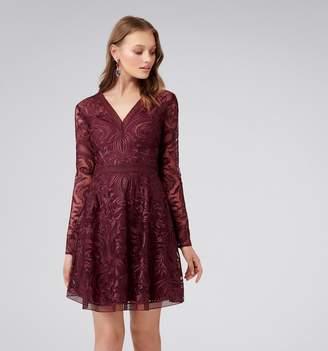 Forever New Kahlia Long Sleeve Soft Prom Dress
