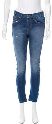 One Teaspoon One x Distressed Mid-Rise Skinny Jeans w/ Tags