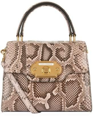 Dolce & Gabbana Python Welcome Handbag
