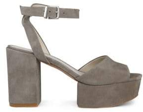 Kenneth Cole New York Pheonix Suede Ankle-Strap Platform Sandals