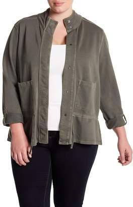 Susina Knit Utility Jacket (Plus Size)