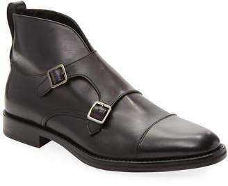 Antonio Maurizi Double-Buckled Leather Boot