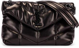 Saint Laurent Small Loulou Puffer Chain Bag in Black   FWRD