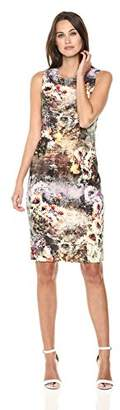 Nicole Miller New York Women's Printed Sleeveless Sheath Dress