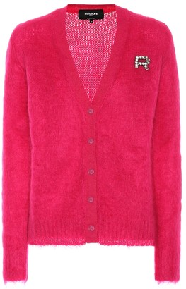 Rochas Embellished mohair-blend cardigan