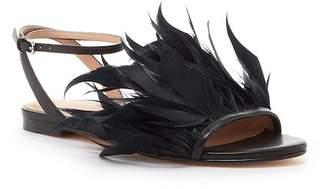 Pour La Victoire Layla Feathered Leather Sandal