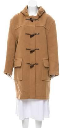 Burberry Wool Toggle Coat Tan Wool Toggle Coat