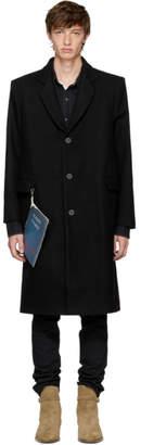 Enfants Riches Deprimes Black Wool Stranger Overcoat