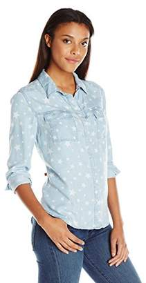 Splendid Women's Chambray With Star Discharge Print