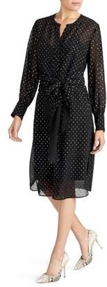 Rachel Roy Collection Foil Dot Flocked Dress