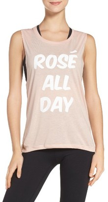 Women's Private Party Rose All Day Jersey Muscle Tee $52 thestylecure.com