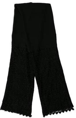 Halston Lace-Trimmed Sheer Scarf