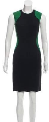 Stella McCartney Knee-Length Contrast Dress Black Knee-Length Contrast Dress