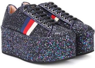 Gucci Glitter platform sneakers