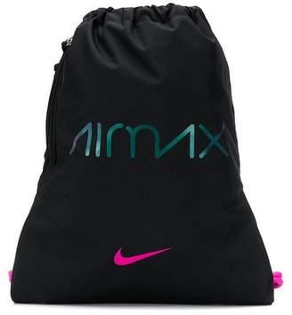 Nike AirMax logo print drawstring backpack