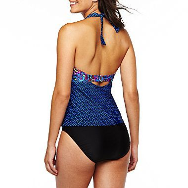 JCPenney Beach Native® Indian Glow Halterkini Top or Bottom