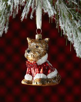 Joy To The World Collectibles Yorkie Dog in Sweater Christmas Ornament