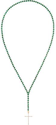 Diane Kordas 18-karat Rose Gold, Diamond And Malachite Necklace - one size