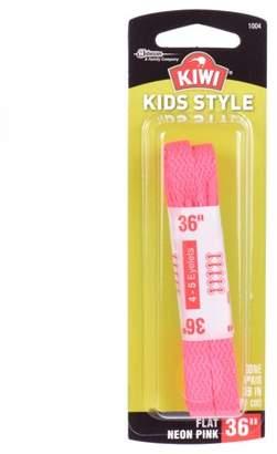 "Kiwi Flat Laces Neon Pink 36"" 2 pairs"