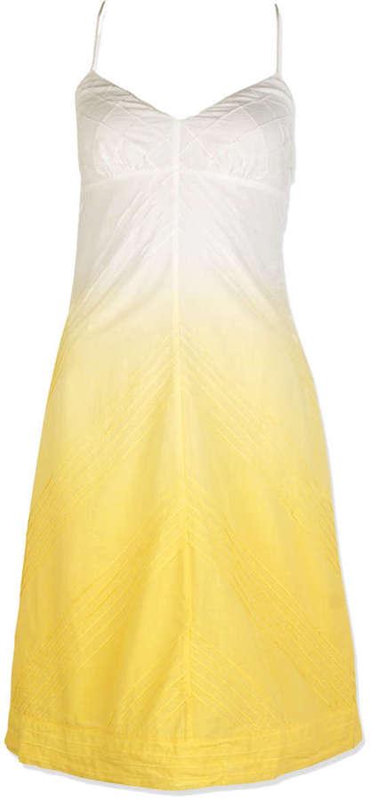 Dip Dyed Cotton Voile V-Neck Tank Dress