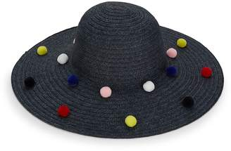 BCBGeneration Women's Funfetti Pom-Pom Sun Hat