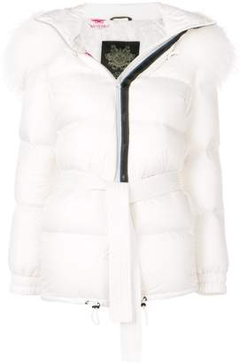 Mr & Mrs Italy belted puffer jacket