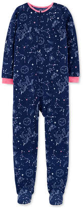 Carter's Carter Little & Big Girls Constellation-Print Fleece Pajamas
