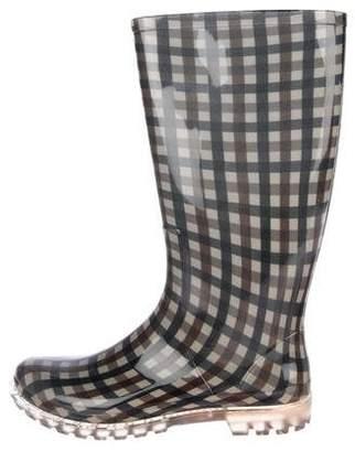 Aquascutum London Checkered Knee-High Boots