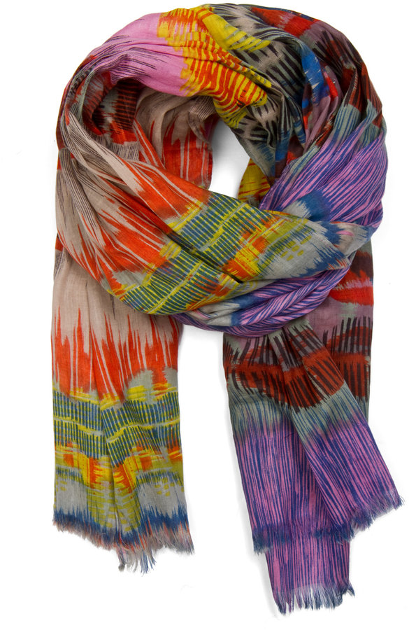 MANGO Color print scarf