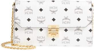 MCM Millie Monogrammed Leather Crossbody Bag