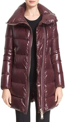 Women's Moncler 'Joinville' Water Resistant High Collar Down Puffer Coat $1,520 thestylecure.com
