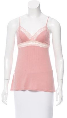La Perla Lace-Trimmed Sleeveless Top w/ Tags $75 thestylecure.com