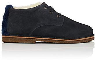 Undercover Women's Shearling & Suede Bluchers - Navy