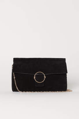 H&M Suede Clutch Bag - Black