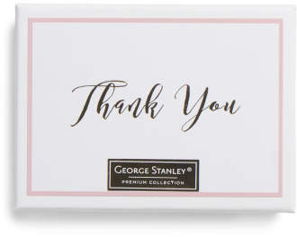 12ct Floral Foiled Thank You Notes