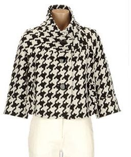 Nygard collection cropped houndstooth jacket