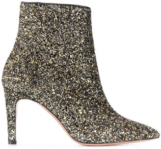 P.A.R.O.S.H. glittered ankle boots
