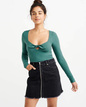 Abercrombie & Fitch Long-Sleeve Corset Tee