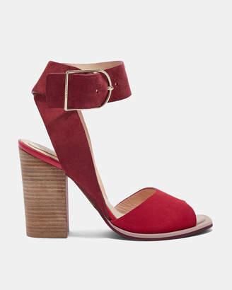 Ted Baker THASIE Suede stripe heel detail sandals