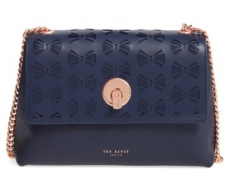 Ted Baker London Leather Crossbody Bag - Blue $249 thestylecure.com