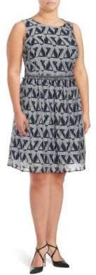 Julia Jordan Plus Printed Fit & Flare Dress