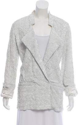 Halston Sequin Peak-Lapel Jacket w/ Tags